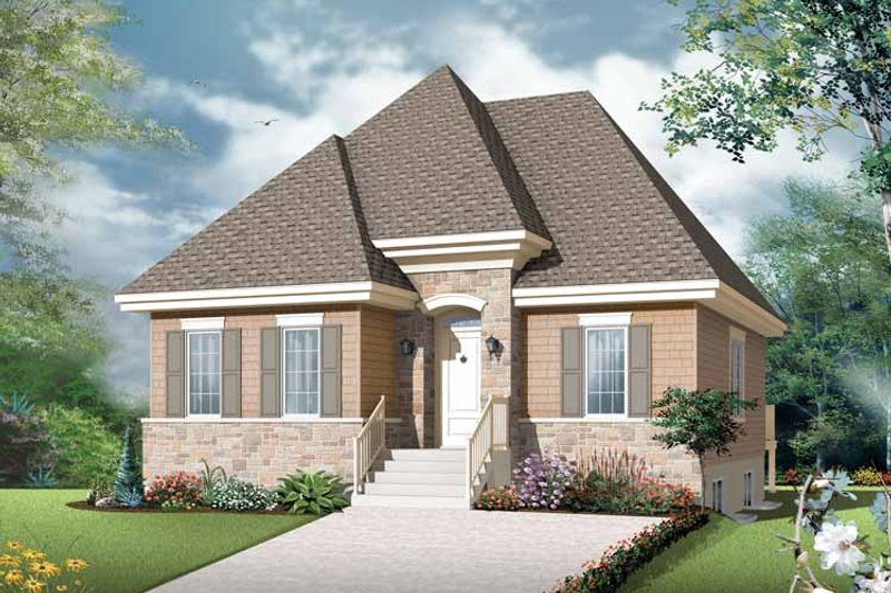 European Exterior - Front Elevation Plan #23-2501