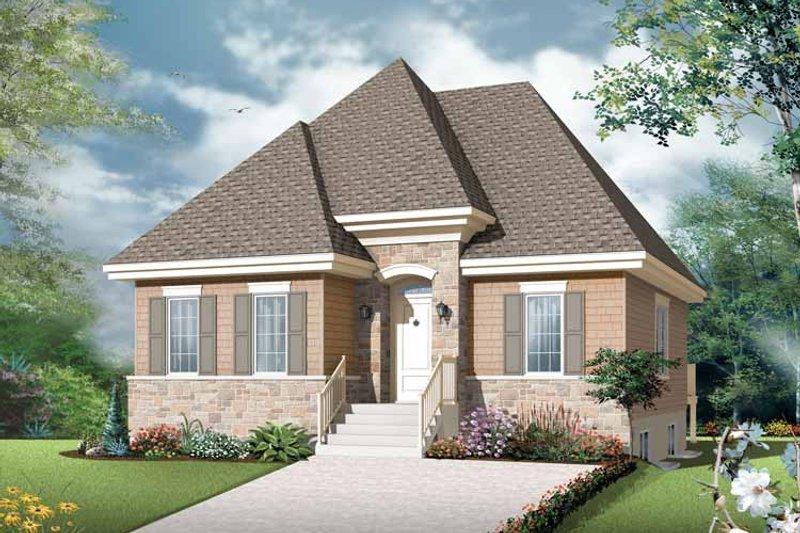 Home Plan - European Exterior - Front Elevation Plan #23-2501
