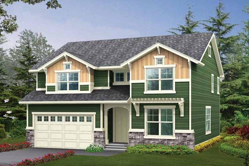 Craftsman Exterior - Front Elevation Plan #132-305 - Houseplans.com