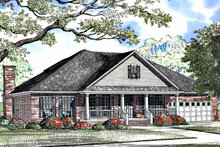 Classical Exterior - Front Elevation Plan #17-3248