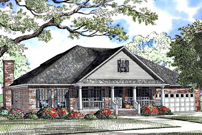 Classical Exterior - Front Elevation Plan #17-3248 - Houseplans.com