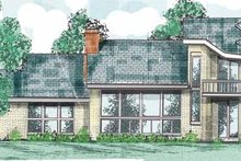 House Plan Design - Contemporary Exterior - Front Elevation Plan #52-256