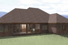 Home Plan - Traditional Exterior - Rear Elevation Plan #44-207