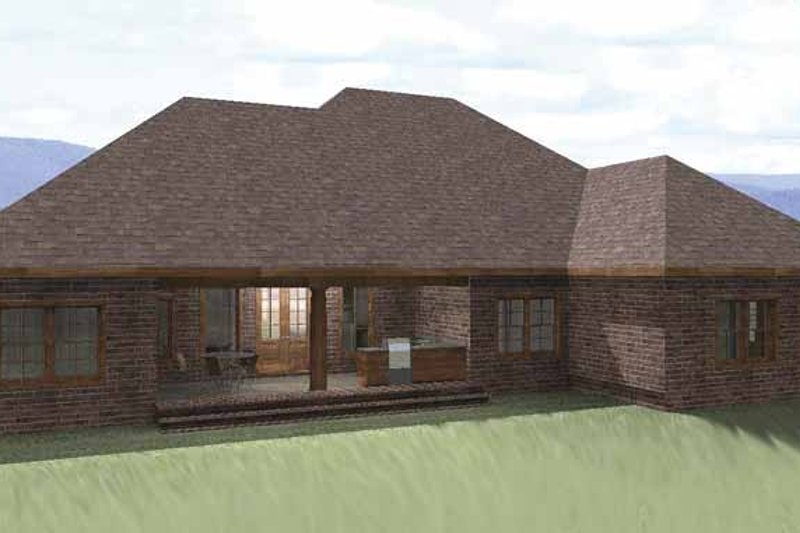 Traditional Exterior - Rear Elevation Plan #44-207 - Houseplans.com