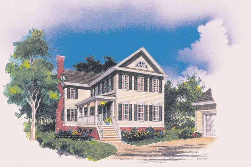 Classical Exterior - Front Elevation Plan #929-369