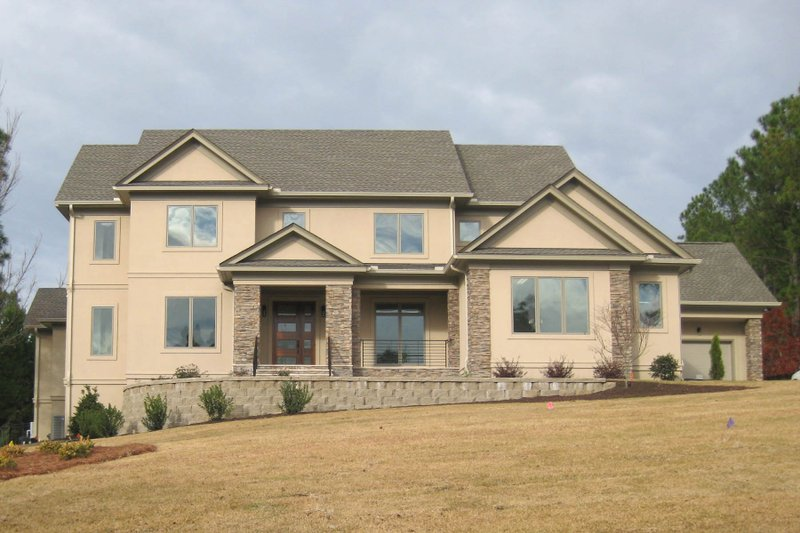 Contemporary Style House Plan - 5 Beds 6.5 Baths 5576 Sq/Ft Plan #1054-32 Exterior - Front Elevation