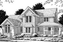 Home Plan Design - Country Exterior - Front Elevation Plan #20-356