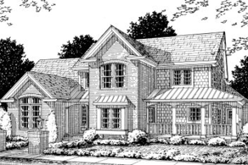 Architectural House Design - Country Exterior - Front Elevation Plan #20-356