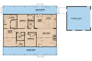 Country Style House Plan - 3 Beds 2 Baths 1800 Sq/Ft Plan #923-34 Floor Plan - Main Floor