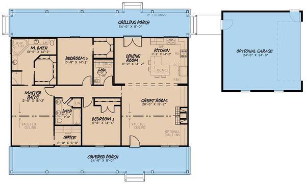 Country Floor Plan - Main Floor Plan #923-34