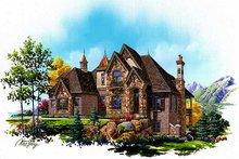 House Plan Design - European Exterior - Front Elevation Plan #5-421