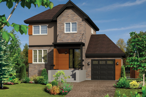 Contemporary Exterior - Front Elevation Plan #25-4345