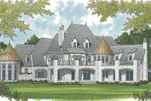 Home Plan - European Exterior - Rear Elevation Plan #453-609