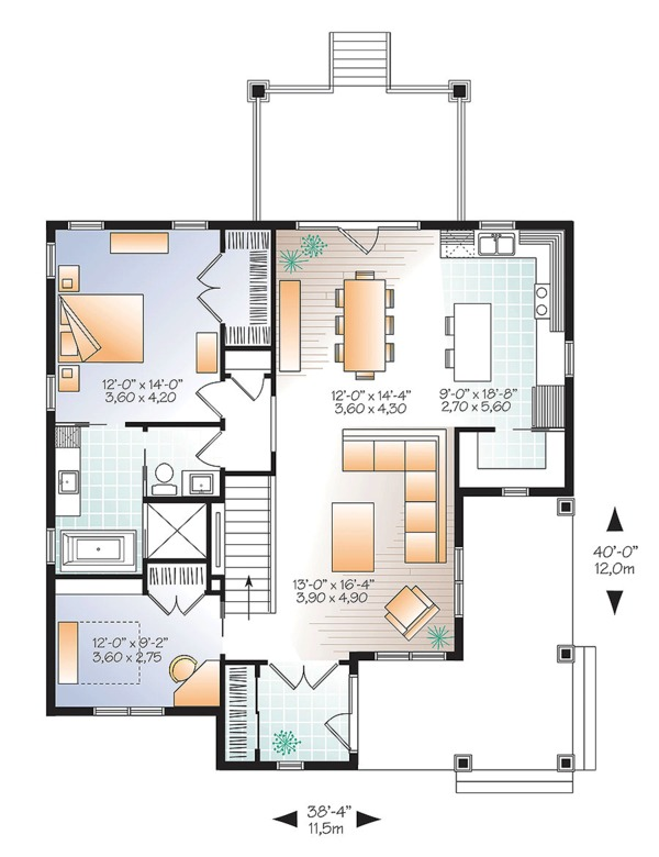 Country Floor Plan - Main Floor Plan Plan #23-2613
