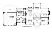 Classical Style House Plan - 3 Beds 3.5 Baths 3281 Sq/Ft Plan #928-240 Floor Plan - Main Floor Plan
