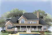 Traditional Style House Plan - 5 Beds 4 Baths 2907 Sq/Ft Plan #929-817 Exterior - Rear Elevation