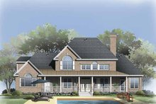 Dream House Plan - Traditional Exterior - Rear Elevation Plan #929-817