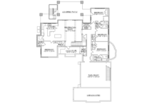 Craftsman Floor Plan - Lower Floor Plan Plan #945-138