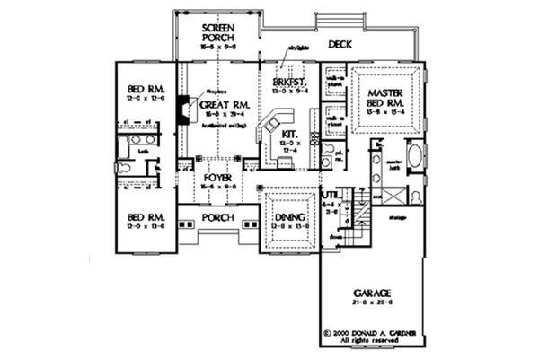 Dream House Plan - With Basement Stair Location