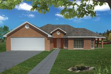 Dream House Plan - Ranch Exterior - Front Elevation Plan #1061-11