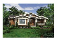 Architectural House Design - Craftsman Exterior - Front Elevation Plan #132-528