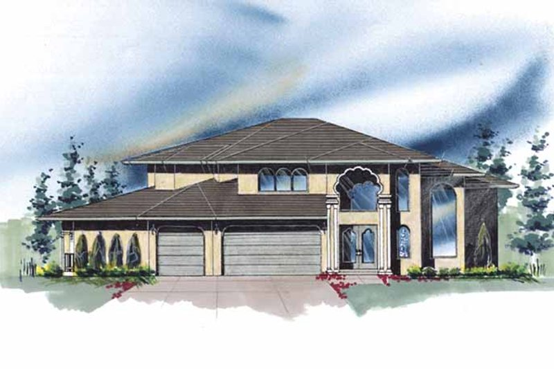 Mediterranean Exterior - Front Elevation Plan #509-428