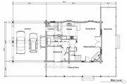 Log Style House Plan - 2 Beds 2 Baths 1394 Sq/Ft Plan #451-11 Floor Plan - Main Floor Plan