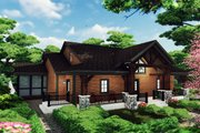 Craftsman Style House Plan - 3 Beds 2.5 Baths 2225 Sq/Ft Plan #70-1494 Exterior - Front Elevation