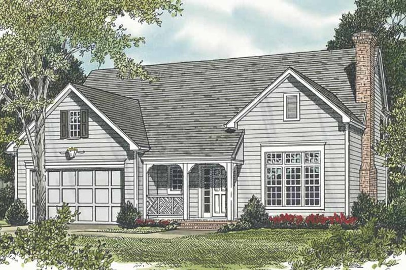 Traditional Exterior - Front Elevation Plan #453-495