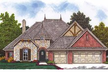 Home Plan - European Exterior - Front Elevation Plan #310-1241