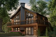 Modern Style House Plan - 3 Beds 2 Baths 824 Sq/Ft Plan #23-602 Exterior - Front Elevation