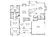 Country Style House Plan - 3 Beds 2.5 Baths 2680 Sq/Ft Plan #927-959 Floor Plan - Main Floor Plan