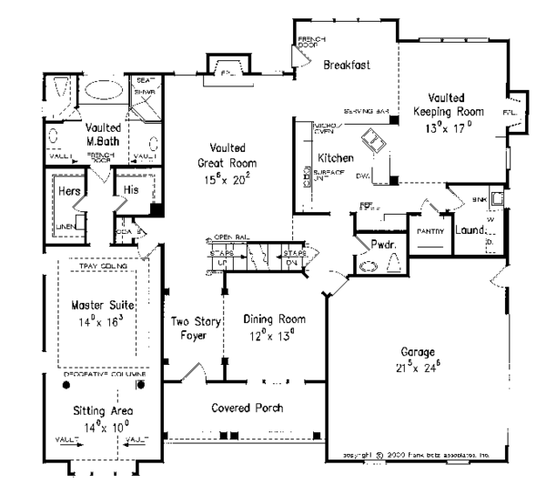 Country Floor Plan - Main Floor Plan Plan #927-959