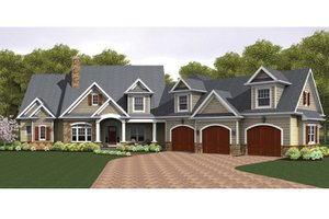 Colonial Exterior - Front Elevation Plan #1010-40