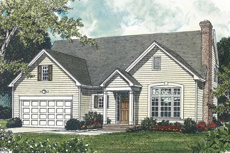 Traditional Exterior - Front Elevation Plan #453-494