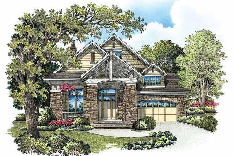 Architectural House Design - Craftsman Exterior - Front Elevation Plan #929-846