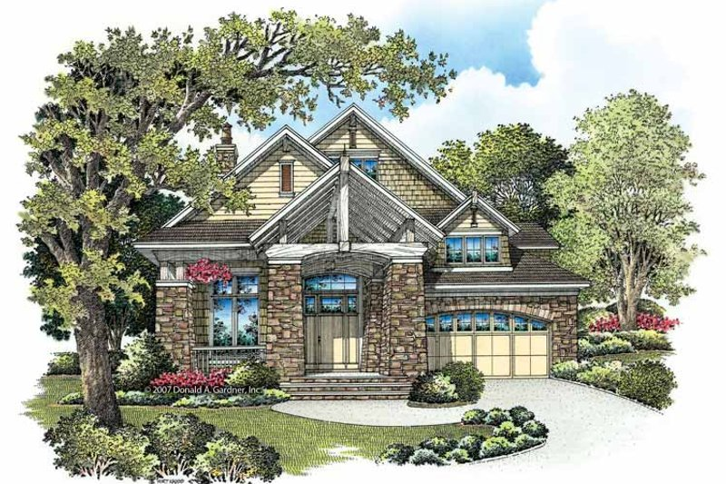 Craftsman Exterior - Front Elevation Plan #929-846