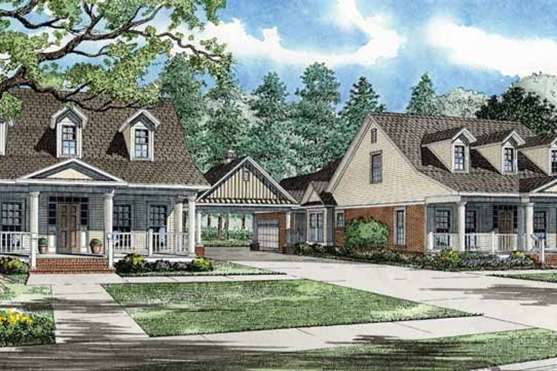 Country Exterior - Front Elevation Plan #17-2821 - Houseplans.com