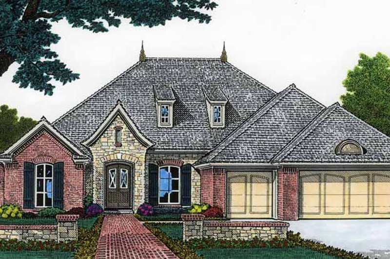 Classical Exterior - Front Elevation Plan #310-1204