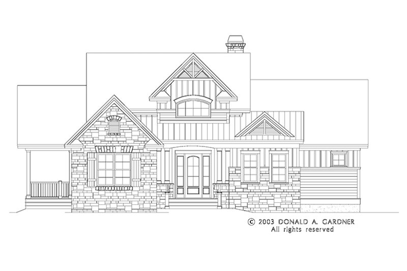 Craftsman Exterior - Front Elevation Plan #929-945 - Houseplans.com