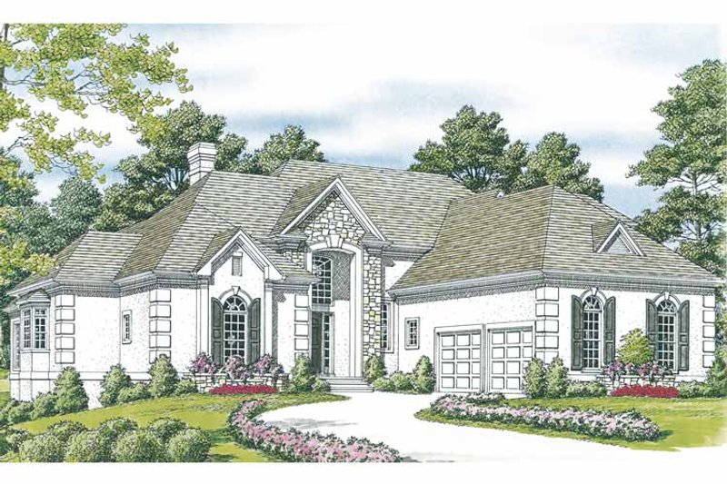 Traditional Exterior - Front Elevation Plan #453-550 - Houseplans.com