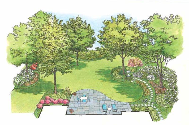 Traditional Exterior - Rear Elevation Plan #1040-43 - Houseplans.com