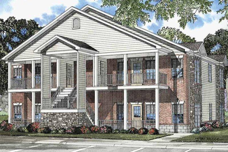 Classical Exterior - Front Elevation Plan #17-3141 - Houseplans.com