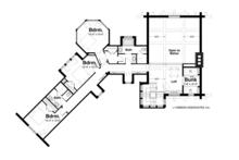 Log Floor Plan - Upper Floor Plan Plan #928-258