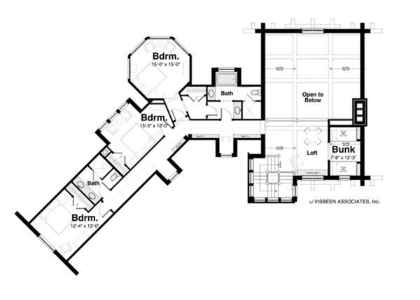 Log Floor Plan - Upper Floor Plan Plan #928-258