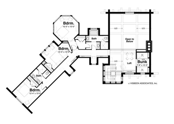 Home Plan - Log Floor Plan - Upper Floor Plan #928-258