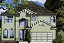 Mediterranean Exterior - Front Elevation Plan #417-833