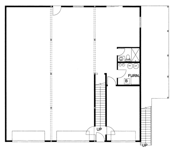 Traditional Floor Plan - Main Floor Plan Plan #117-867