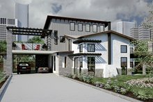 Dream House Plan - Modern Exterior - Front Elevation Plan #472-7