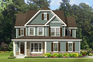 House Plan Design - Colonial Exterior - Front Elevation Plan #1010-130